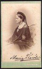 Marie-Thérèse de Modène. Photo signée. Photographe Emil Rabending. Vers 1870
