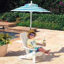 Children's Patio Furniture Chair Umbrella Kids Wooden Sun Lounger Garden Parasol