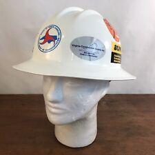 Bullard Model 303 Ratcheting Suspension Full Brim Safety Hard Hat With Stickers