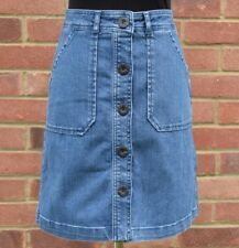 b86ad44d38d7e BRAND NEW WOMEN BODEN BUTTON THROUGH MINI DENIM SKIRT ALL SIZES