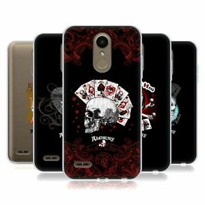 OFFICIAL ALCHEMY GOTHIC SKULL AND CARDS SOFT GEL CASE FOR LG PHONES 1