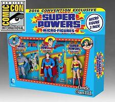 SDCC 2016 Gentle Giant Super Powers Micro 3 Pack (Superman,Batman,Wonder Woman)