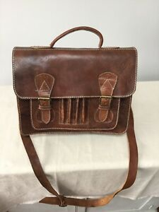 Unbranded Thick Brown Leather Satchel Bag