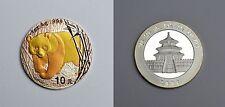 10 Yuan Münze China Feinsilber 1 Unze Oz 2002 Panda Teilvergoldung Stempelglanz