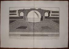 Piranesi stampa antica old print kupferstich Ponte Ferrato Tiberina 1784 roma