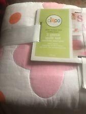 Circo Pink Flower Dot 3 Pc Quilt Set-full/queen 100% Cotton, Machine Wash-NWT