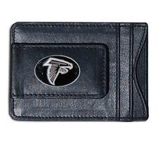 Atlanta Falcons NFL Football Team Leather Card Holder Money Clip Wallet