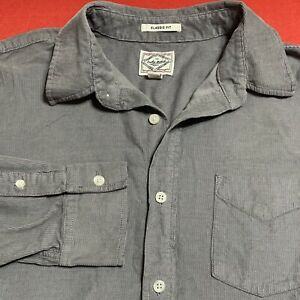 LUCKY  BRAND .. Classic Fit . Cotton Corduroy Long Sleeve Shirt . Gray .. Size S