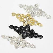 1 Pc Bling Crystal Applique Rhinestone DIY Sewing For Wedding Bridal Crafts