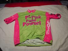 Tour de Pink 2009 P3=Pink Pedal Power  VOMAX Cyclist Jersey  Size L Club Cut