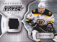 17-18 Artifacts Brad Marchand Jersey Lord Stanley's Legacy Relics Bruins 2017