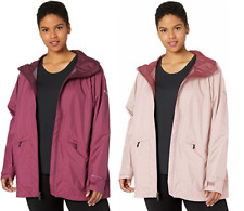 Columbia Women's Plue Arcadia Casual Jacket Wine Berry, Mineral Pink 1X, 3X