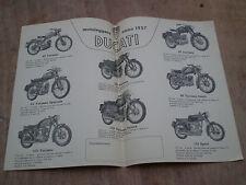 PUBBLICITA DEPLIANT ADVERTISING ORIGINALE DUCATI 1957 DESMO ELITE SPORT 175 S 65