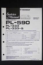 Pioneer pl-590 pl-333/s original estéreo turntable Service-Manual/diagram o116