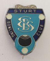 Sturt Bowling Club Badge Pin Lawn Bowls Vintage (K2)
