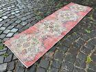 Turkish rug, Runner rug, Vintage rug, Handmade, Corridor, Wool   1,8 x 6,2 ft