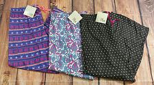 Lot of 3 Olive Street Lounge Pajama Pants Womens Size Large NEW
