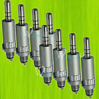 8pcs Dental Standard Handpiece Low Speed Air Motor Cone Nose 4Hole Fit NSK CE