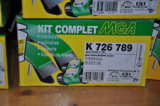 satz bremse rückseite mga, k726789,peugeot, citroen ; 203x38 ; zylinder: 20.6