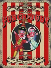 Punch & Judy, British Seaside Holiday, Old Puppets, Small Metal Tin Sign Picture
