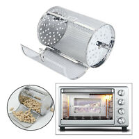 Grilled Over Cage Roaster Drum Stainless for Peanut Dried Nut Rotisserie Oven