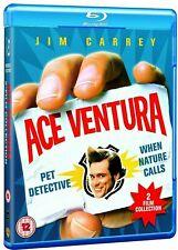 Ace Ventura Pet Detective + When Nature Calls (Blu-ray)~~Jim Carrey~~MINT DISCS