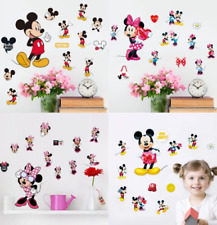 Minnie & Mickey Mouse vinyl wall stickers Decals Child's bedroom 4 Designs