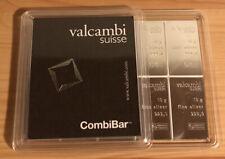 TOP!!! Valcambi Suisse CombiBar 10x 10g Silber Barren Tafel gesamt 100g / in OVP