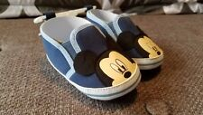 New Boys Disney Mickey Mouse Crib Shoes Size 6-9 Months