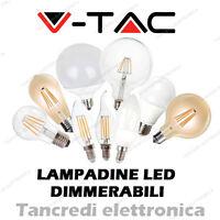 Lampadina led V-TAC dimmerabile dimmerabili lampadine lampada globo bulbo fiamma
