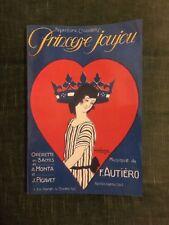 Princesse Joujou Monta Pigavet Autiéro opérette partition chant-piano Choudens