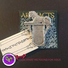 """""""JJ"""" Jonette] Jewelry Egypt Silver Pewter 'Pharoh Hieroglyphics Lion' Brooch Pin"""