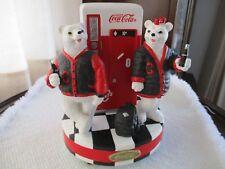 COCA COLA POLAR BEAR VENDING MACHINE MUSIC BOX