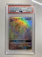 PSA 10 GEM MINT Dragonite GX SM156 SM Black Star Promo HYPER RARE Pokemon Card