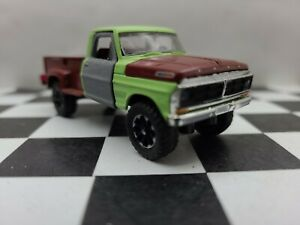 1972 Ford F100 Truck 1:64 Scale 4x4 4WD f 350 250 tires hitch tow M2 GREENLIGHT