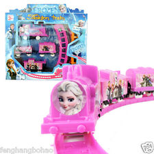 1 Set Movie Character Frozen Figures Electric Train Track Kids Children Baby Toy