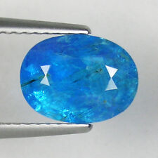 1.95 ct  BEAUTIFUL  NEON BLUE 100%  NATURAL  APATITE - Oval  - 3475