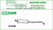 SILENCIEUX CENTRALE DESCAM POUR 18121175024 BMW SÉRIE 3 E21 315 -316 - 318 -320