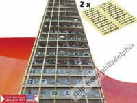 2pcs Guitar Neck Fretboard Note Map Fret Sticker Lables Decals Learn Fingerboard