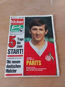 KICKER Sportmagazin 10.8.1970 Heft 64 5 Tage bis zum Start!