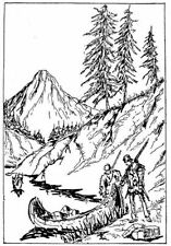 Scene - Scenery - Landscape - Mountain #1 Unmounted Clear Stamp Approx 52x75mm
