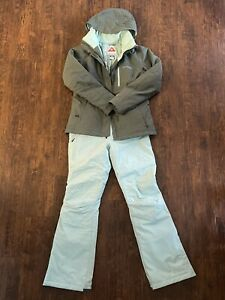 Columbia Ski Jacket And Pants Set Women Small Blue/Teal