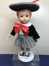 "13� Antique Tonner Effanbee Doll Co. ""Patsy� Repro Vinyl Plaid Skirt & Hat #T"