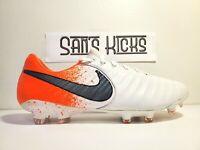 Nike Tiempo Legend 7 Elite FG Soccer Cleat AH7238-118 White/ Crimson Sz 9.5 $230