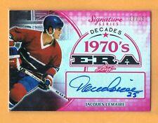 2015 Leaf Signature Series Jacques Lemaire Autograph /15 Montreal Canadiens