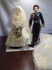The Danbury Mint Prince Charles Bridegroom Doll and Princess Diana Bride Doll