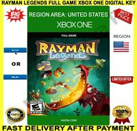 Rayman Legends Xbox One Full Game Digital Code Key Region US ✅ Free P&P