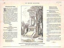 Cimetière Montparnasse Monument Marie-Edmond Valentin Préfet Strasbourg 1883