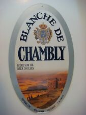 Cardboard Poster <> Unibroue Brewery Blanche De Chambly Biere Sur Lie ~*~ Canada