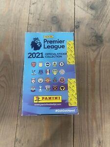 Panini's Premier League 2021 Stickers 100 Packs Full Box